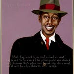 Painting of Clyde Kennard by Robert Shetterly, who did a series of paintings of unsung heroes.