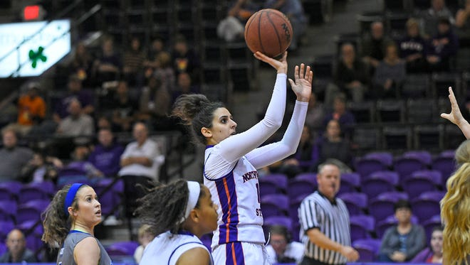 Northwestern State's Shahad Abboud shared team-high scoring honors with 11 points.