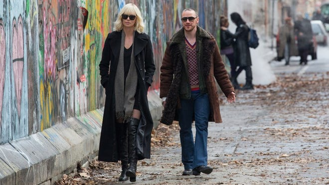 """Charlize Theron and James McAvoy in """"Atomic Blonde."""""""