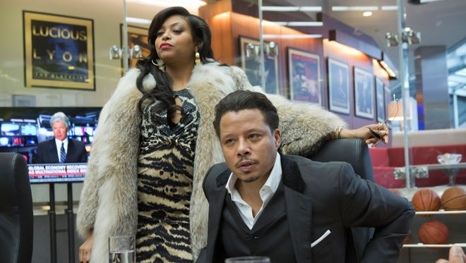 Cookie Lyon (Taraji P. Henson, L) and Lucious Lyon (Terrence Howard) are the stylish leads on Fox's hit 'Empire.'