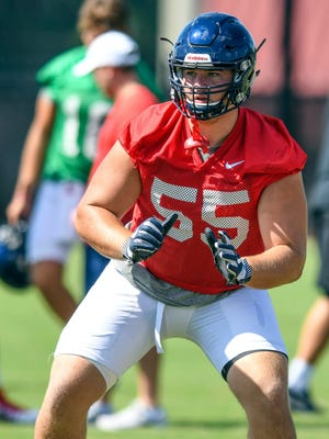 Offensive lineman Ban Brown has practiced with Ole Miss' first-team offense this spring.