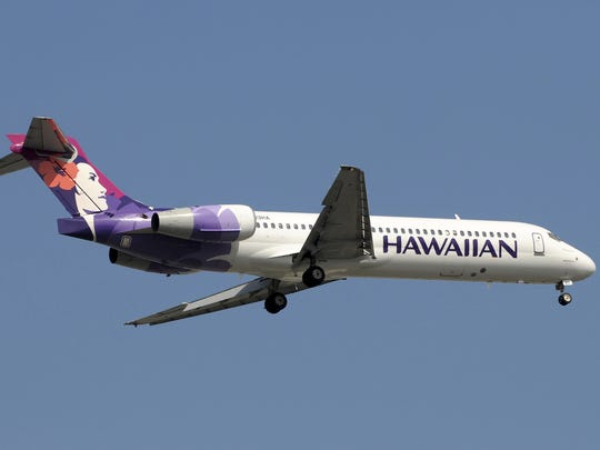Hawaiian Airlines Boeing 717 jet.
