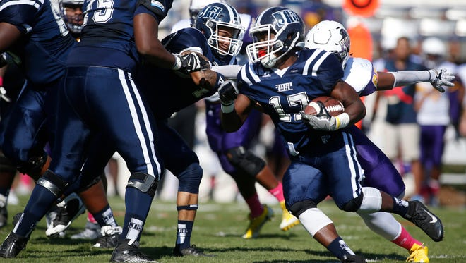 Running back Jordan Johnson and the Jackson State Tigers are still looking for their first win of the 2017 season.