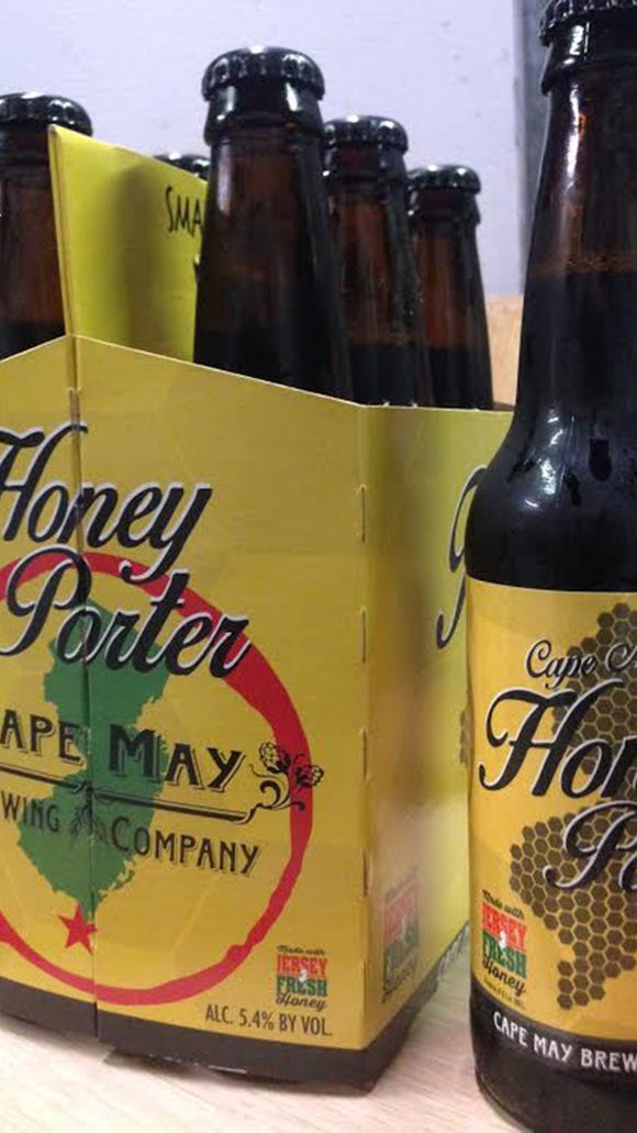 Honey Porter, brewed by Cape May Brewing Company, is the first beer to bet a Jersey Fresh stamp of approval for its use of local honey.