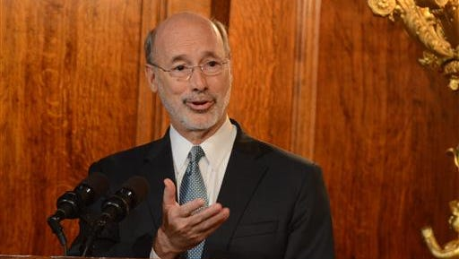 Pennsylvania Gov. Tom Wolf speaks during a press conference in his chambers on  July 10, 2016 in Harrisburg, Pa.