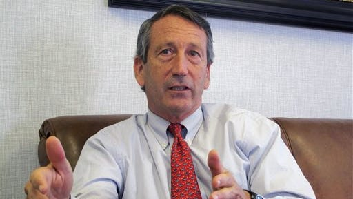 U.S. Rep. Mark Sanford, R-S.C., discusses his first months back in Congress during an Associated Press interview in his district office in Mount Pleasant, S.C. Sanford said on Friday that he and his fiancee are calling off their engagement due to the ongoing contention with his ex-wife Jenny Sanford, four years after their divorce.