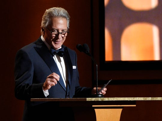 Dustin Hoffman addresses the audience at the 2017 Governors
