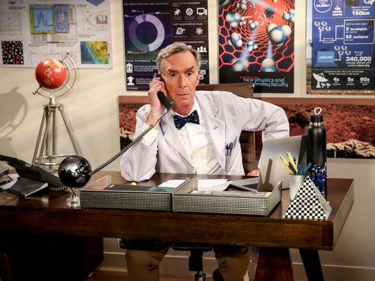 Bill Nye: The science guy, who first appeared in Season 7, also returned in the final season's premiere, chatting with Tyson about their common Twitter foe.