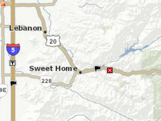 A crash closed Highway 20 near Foster Lake on Tuesday.