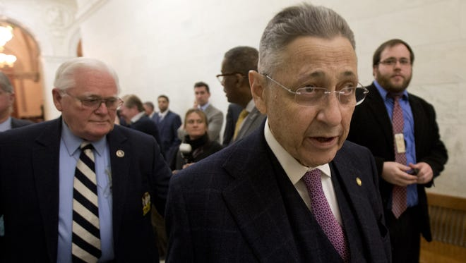 Assembly member Sheldon Silver, D-Manhattan, seen on Feb. 2 in Albany as negotiations were going on for his resignation as Assembly speaker. Silver was formally indicted Thursday on federal charges, accused of taking nearly $4 million in payoffs and kickbacks.