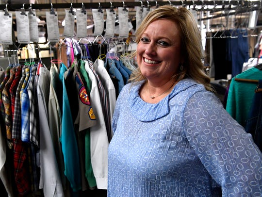 Fran Stone, the owner of A-Town Cleaners. The company was named Small Business of the Year Tuesday.