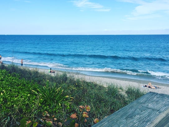 A detail of the beach in Jupiter, Florida