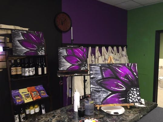 new local paint studio combines art with wine