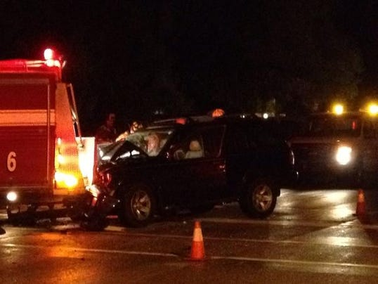 SUV crashes into GRFD truck at accident scene