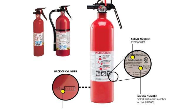 Recalled Kidde fire extinguishers.