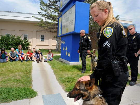 The Great Falls Police Department discontinued its K-9 program in 2016. The Cascade County Sheriff's Office is researching the purchase of a drug detection dog and hopes to add a K-9 in the next few months.