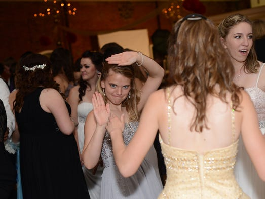 Stayton High School students enjoy their Broadway-themed prom at the Reed Opera House in downtown Salem on Saturday, May 3, 2014.