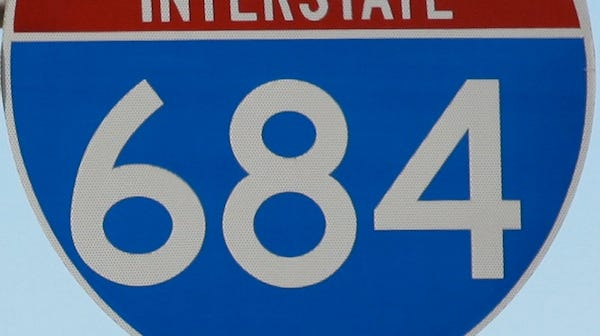 Interstate 684 road sign.