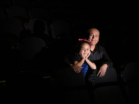 """Andrew Harvey and his daughter Gianna both provided voices for the Navajo-language version of """"Finding Nemo,"""" which opens this weekend in Farmington."""