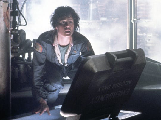 Ripley (Sigourney Weaver) tries to stay alive in 'Alien.'