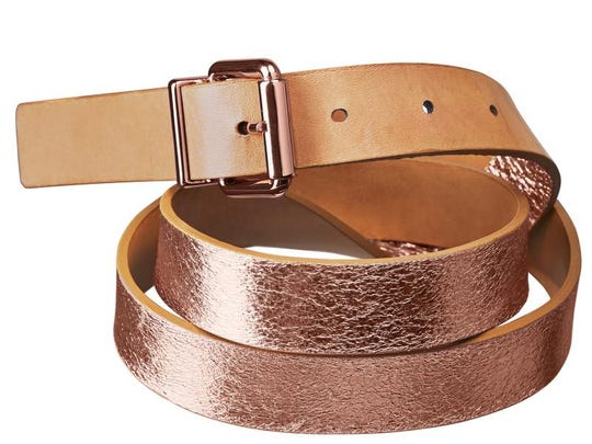 Suit up for business in essentials with a twist. Reversible belt, $25.95 at H&M. (Gannett/File)