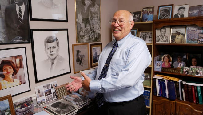 Local John F. Kennedy historian Harold Amstutz discusses the upcoming release of documents pertaining to Kennedy's assassination Wednesday, October 25, 2017, in Lafayette. Amstutz said he would be surprised if anything new is discovered when the documents are released.