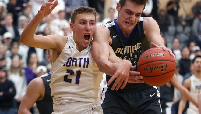 North Kitsap's Logan Chmielewski (left) and the Vikings are looking to return to the Class 2A state tournament in Yakima. The Vikings face Cheney in a regional game Saturday.