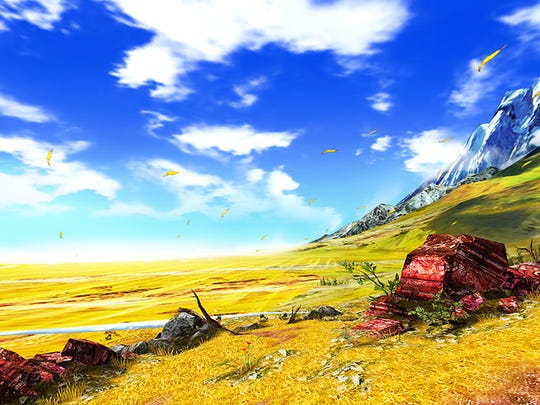 """Monster Hunter 4 Ultimate"" ups the saturation and adds uneven terrain to stages."