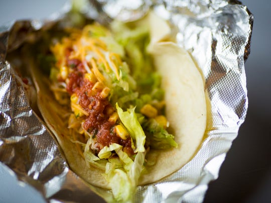Habanero Latin American served grilled adobo chicken tacos for $4 at Taste of Cincinnati Saturday, May 28, 2016.