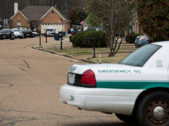 The shooting occurred around noon at a home on Woodland