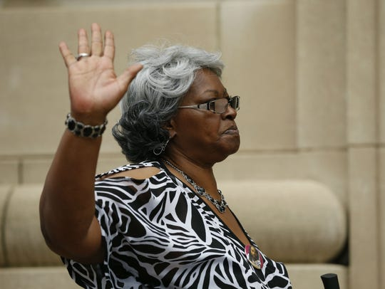 Audrey DuBose leaves the Hamilton County Courthouse