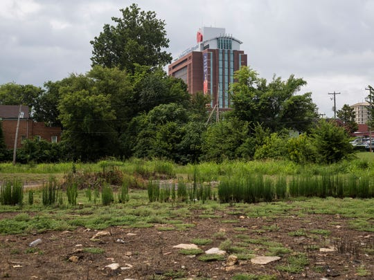 July 28, 2017 - LeBonheur Children's Hospital is seen behind a vacant lot at the intersection of Ayers and Mosby in the Winchester Park neighborhood. St. Jude's fundraising arm and Methodist LeBonheur are seeking to expand tax-increment financing to help create neighborhoods where their new employees might want to live.