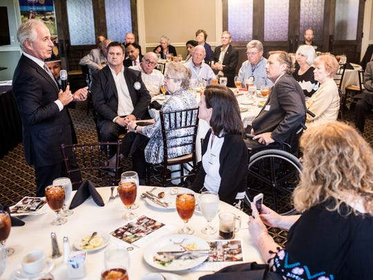 August 30, 2017 - Senator Bob Corker speaks during a Rotary Club of Germantown meeting at TPC Southwind. The luncheon speech before the Rotary Club of Germantown was part of Corker's statewide tour to discuss the major challenges facing the county.