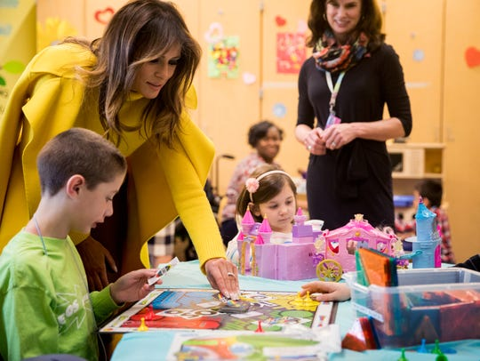 First lady Melania Trump visits Cincinnati Children's