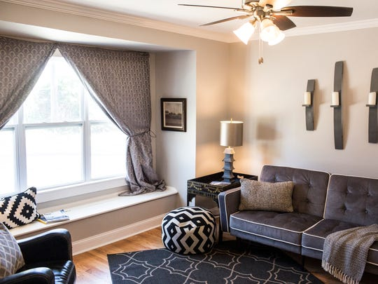 March 13, 2018 - Natural light pours into one of the three bedrooms in the home located at 123 South Fenwick.