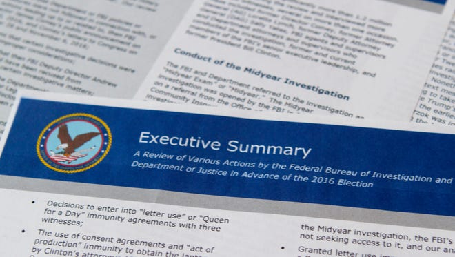 The FBI Inspector General report on the Clinton email investigation.