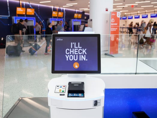 JetBlue has made-over its lobby at Terminal 5 (T5)
