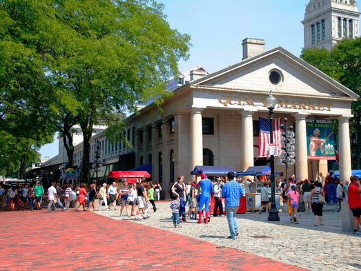 Established in 1742, Boston's Faneuil Hall Marketplace