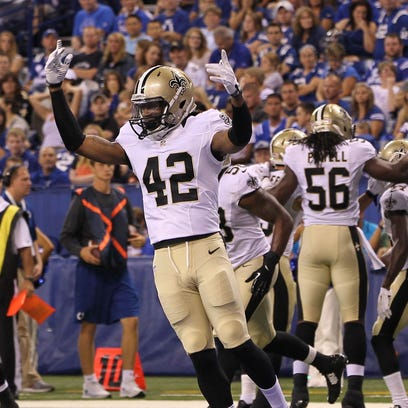 Aug 23, 2014; Indianapolis, IN, USA; New Orleans Saints