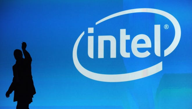 This January 7, 2010 file photo shows the Intel logo at the 2010 International Consumer Electronics Show in Las Vegas, Nevada.