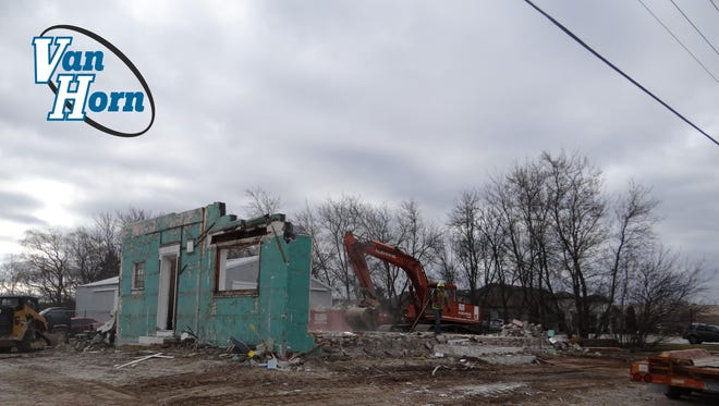 The Van Horn Automotive Group has begun demolition of buildings on Eastern Avenue in Plymouth across from Chuck Van Horn Dodge and Joe Van Horn Chevrolet on the site of its new Van Horn Truck Center, The Truck Factory.