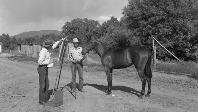 A disk of more than 3,300 images is available for viewing in the Archive Room at the Ruidoso Public Library. Contact Lyn Kidder at words0250@gmail.com to help identify the men in the Carmon Phillips photograph.