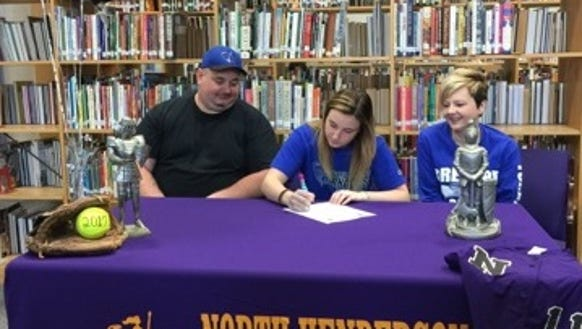 North Henderson senior Teegan Bullock has signed to