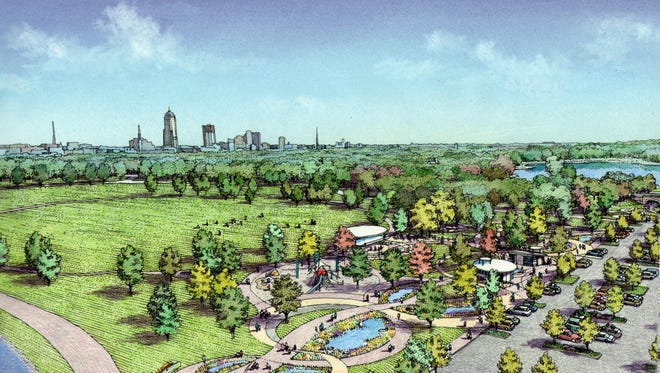 A $9 million project in Des Moines Water Works Park is slated to add walkways, play features, a food truck park and a dual-stage amphitheater with space for 25,000 people in the southeastern corner of Des Moines Water Works Park. Construction is expected to begin in 2017.