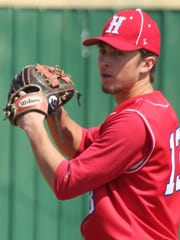 Haughton's Nick Heckman prepares to throw a pitch.