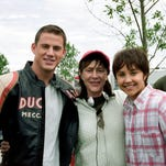 Channing Tatum and Amanda Bynes pose with producer Lauren Shuler Donner on the set of 'She's the Man.' Remember that 2006 movie?
