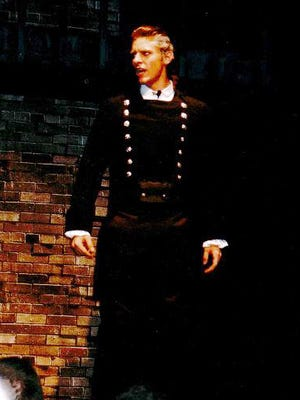"Country singer Chris Young as Javert in a 2002 production of ""Les Miserables"" at Oakland High School in Murfreesboro."