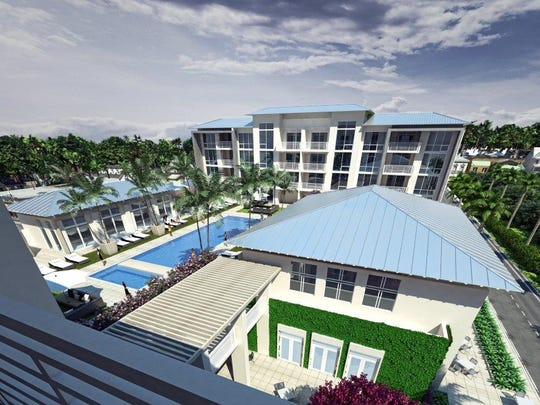 Longitude will have a swimming pool and fitness center between the two buildings.