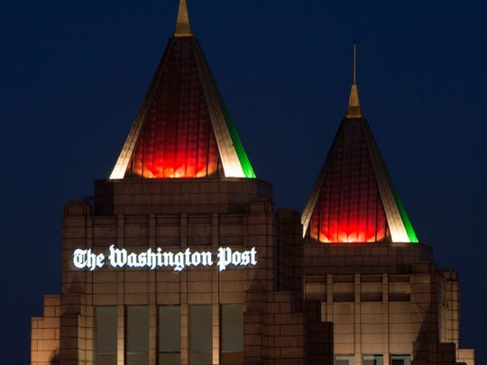 The twin spires of the Washington Post, now owned by