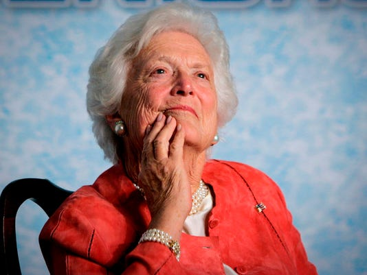 AP BARBARA BUSH A FILE USA FL